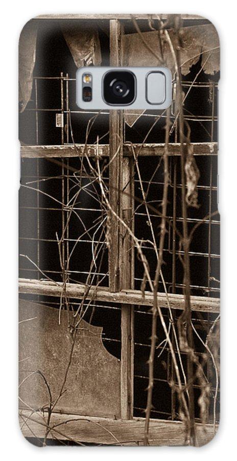 Window Galaxy S8 Case featuring the photograph Window Of A Forgotten Mystery by Douglas Barnett