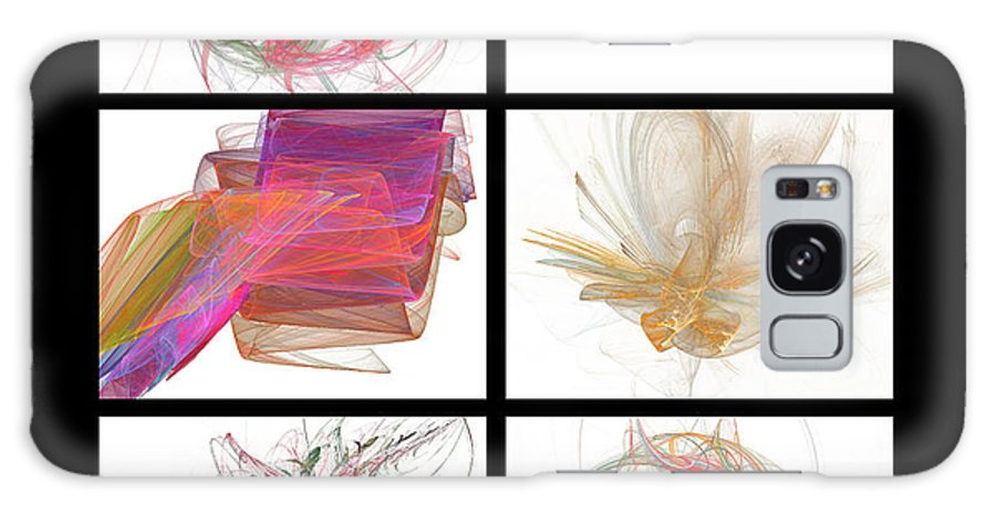 Abstract Galaxy S8 Case featuring the digital art Window One by Betsy Knapp