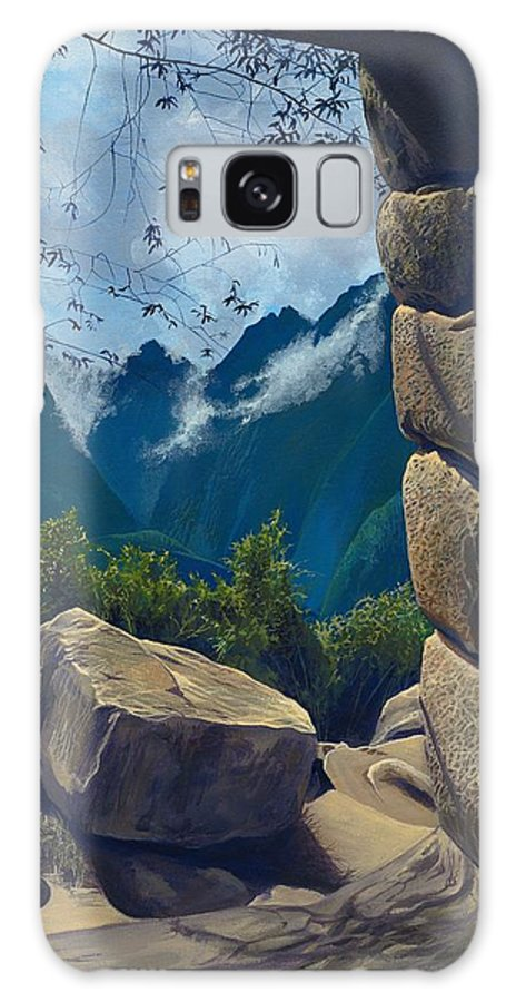 Peru Galaxy Case featuring the painting Window to the Past by Hunter Jay