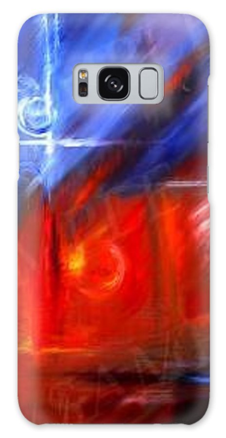 Abstracts Galaxy Case featuring the painting Windows by James Christopher Hill