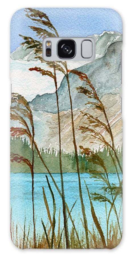 Landscape Galaxy S8 Case featuring the painting Windswept by Brenda Owen