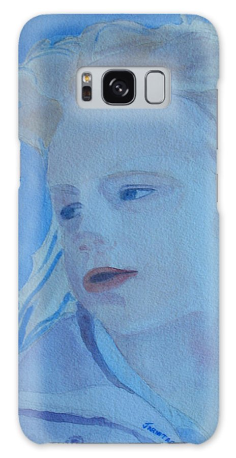 Portrait Portraits Galaxy S8 Case featuring the painting Windswept by Jenny Armitage