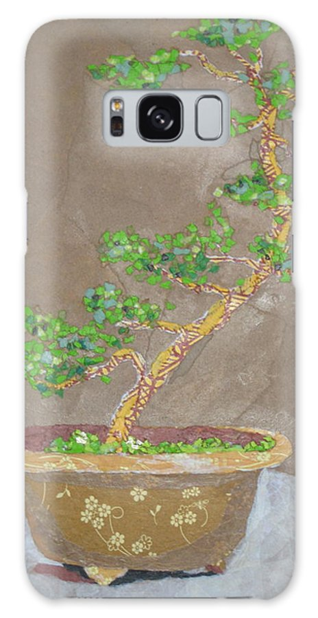 Banzai Tree Galaxy Case featuring the painting Windswept Juniper by Leah Tomaino