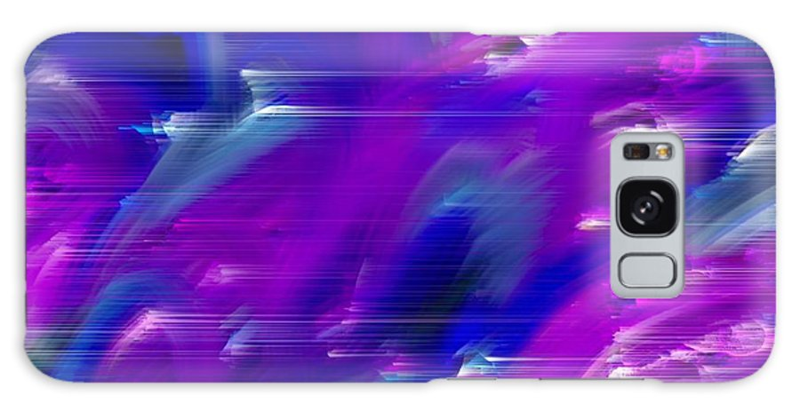 Digital Art Abstract Abstract Soft Colors Purple Galaxy S8 Case featuring the digital art Windy City by Gayle Price Thomas