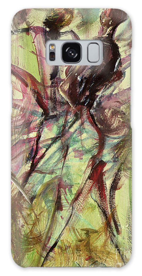 Female Galaxy S8 Case featuring the painting Windy Day by Ikahl Beckford