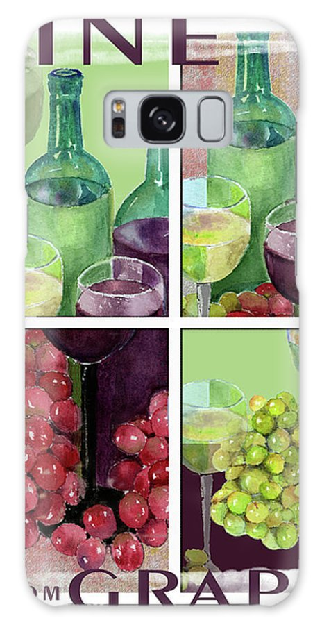 Wine Galaxy S8 Case featuring the painting Wine From Grapes Collage by Arline Wagner