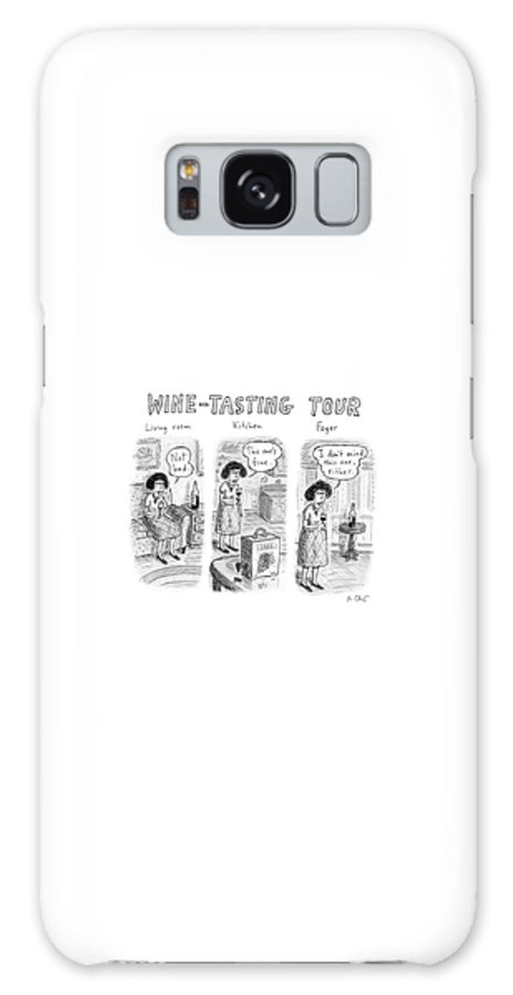 Wine-tasting Tour Galaxy Case featuring the drawing Wine-Tasting Tour by Roz Chast