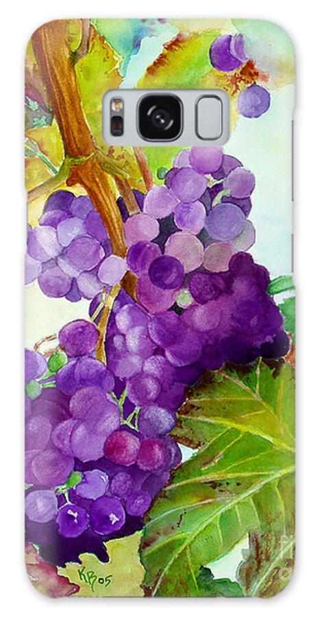 Wine Galaxy Case featuring the painting Wine Vine by Karen Fleschler