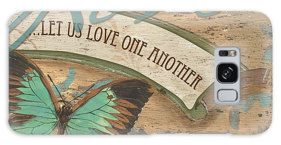 Butterfly Galaxy S8 Case featuring the painting Wings Of Love by Debbie DeWitt