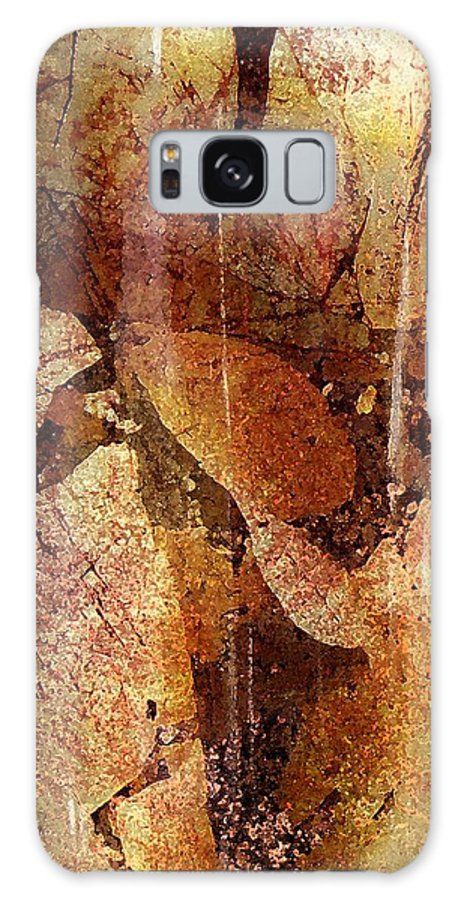Abstract Galaxy S8 Case featuring the digital art Winter Departs by Florene Welebny