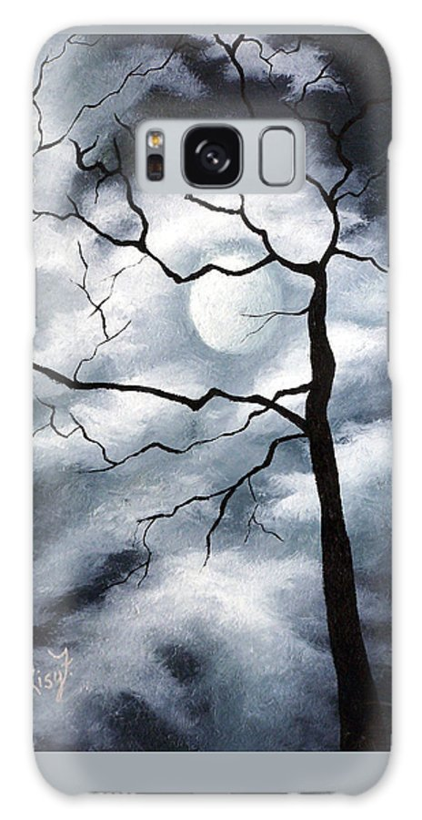 Winter Galaxy Case featuring the painting Winter Evening by Elizabeth Lisy Figueroa