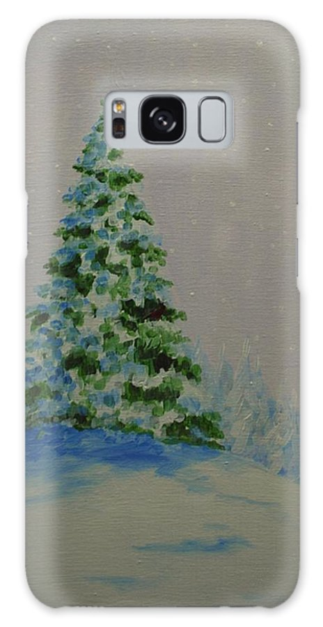 Christmas Tree Galaxy S8 Case featuring the painting Winter Glow by Emily Page