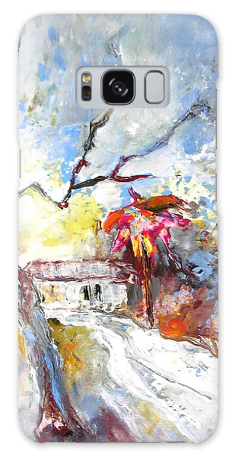Spain Galaxy S8 Case featuring the painting Winter In Spain by Miki De Goodaboom
