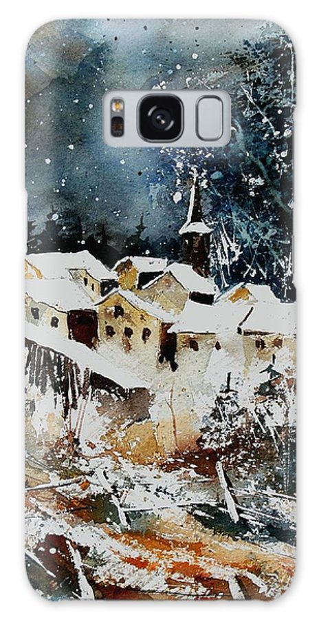 Winter Galaxy Case featuring the painting Winter In Vivy by Pol Ledent