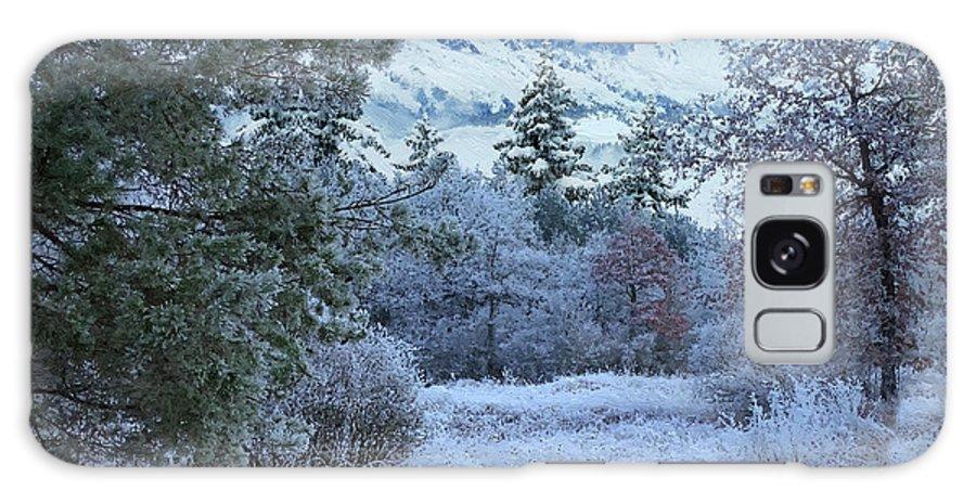 Winter Galaxy S8 Case featuring the digital art Winter Landscape by Alex Lim