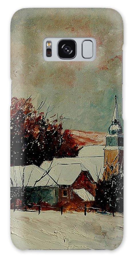 Winter Galaxy S8 Case featuring the painting Winter Landscape by Pol Ledent