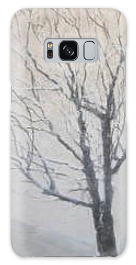 Tree Galaxy Case featuring the painting Winter by Leah Tomaino