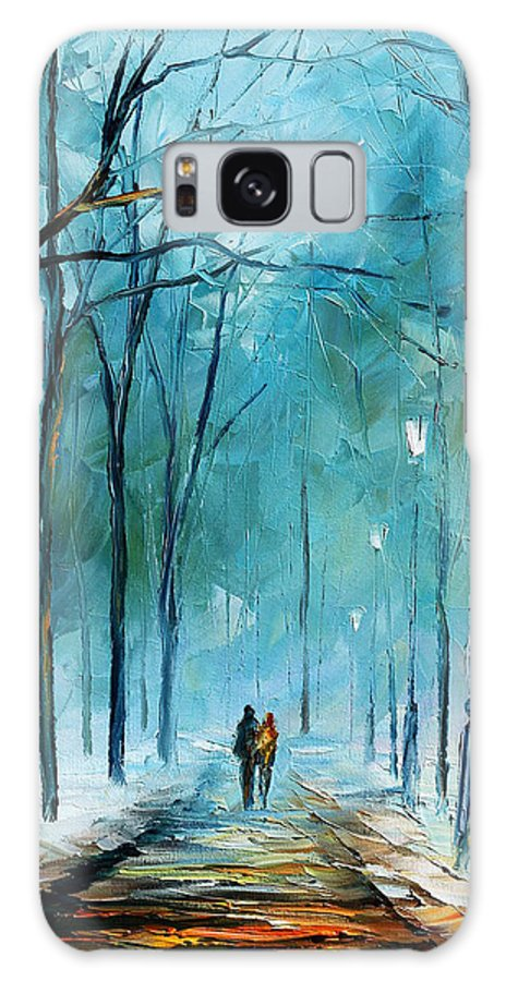 Landscape Galaxy S8 Case featuring the painting Winter by Leonid Afremov