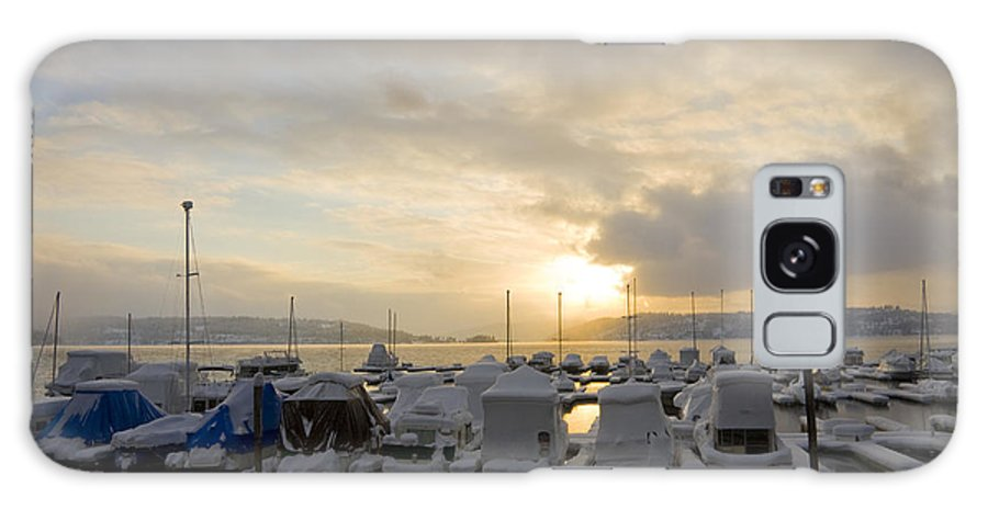 Boats Galaxy Case featuring the photograph Winter Marina by Idaho Scenic Images Linda Lantzy