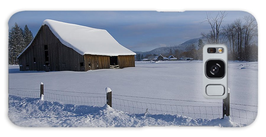 Barn Galaxy Case featuring the photograph Winter Meadow by Idaho Scenic Images Linda Lantzy