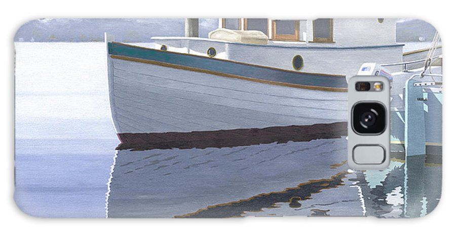 Marine Galaxy S8 Case featuring the painting Winter Moorage by Gary Giacomelli
