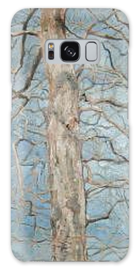 Tree Galaxy Case featuring the painting Winter Morning by Leah Tomaino