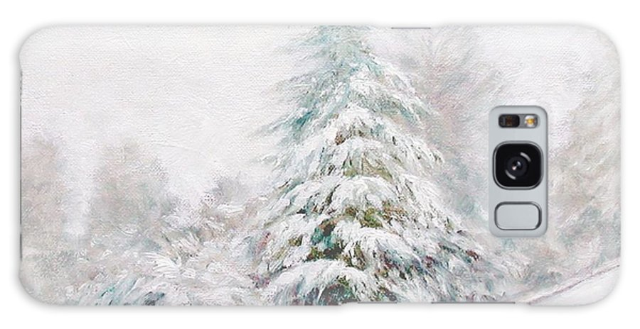 Winter Landscape Galaxy S8 Case featuring the painting Winter Of 04 by Jim Gola