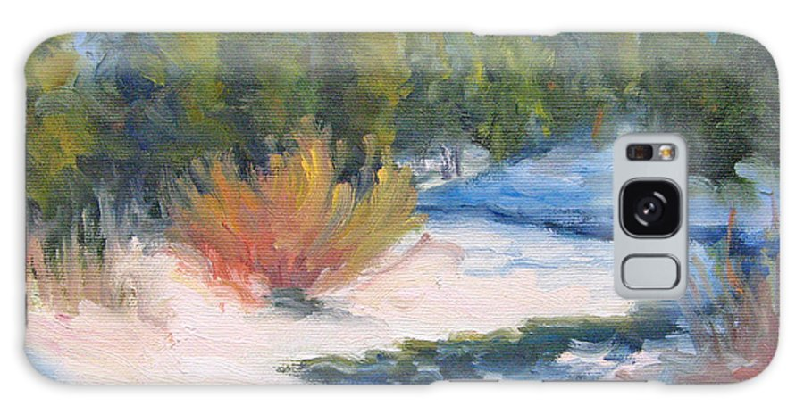 Landscape Galaxy Case featuring the painting Winter On Gore Creek by Bunny Oliver