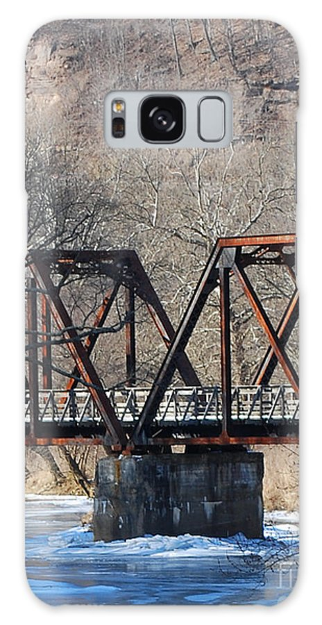 Trestle Galaxy S8 Case featuring the photograph Winter On Knapps Creek by Randy Bodkins