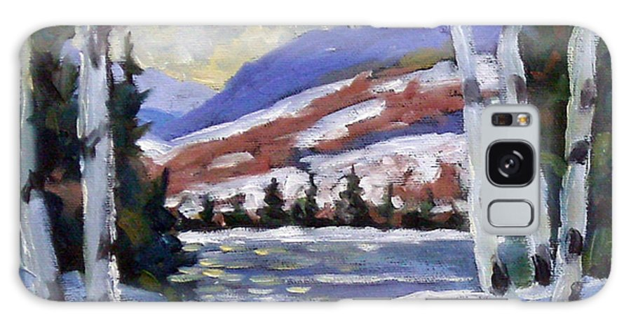 Art Galaxy S8 Case featuring the painting Winter Reflections by Richard T Pranke