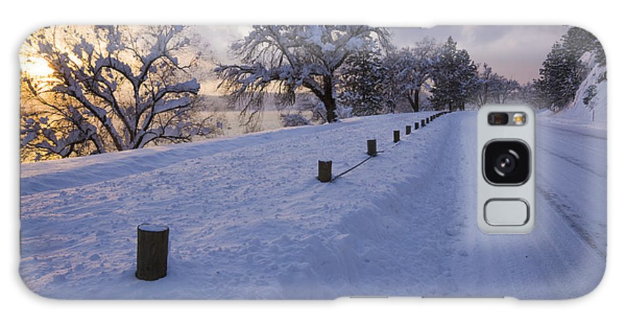 Idaho Galaxy S8 Case featuring the photograph Winter Road by Idaho Scenic Images Linda Lantzy