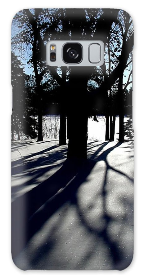 Landscape Galaxy Case featuring the photograph Winter Shadows 2 by Tom Reynen