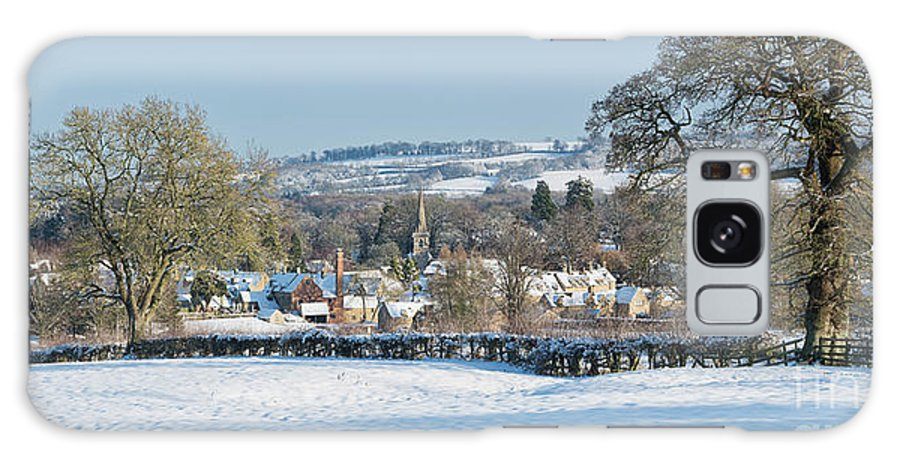 Lower Slaughter Galaxy S8 Case featuring the photograph Winter Snowfall Lower Slaughter by Tim Gainey