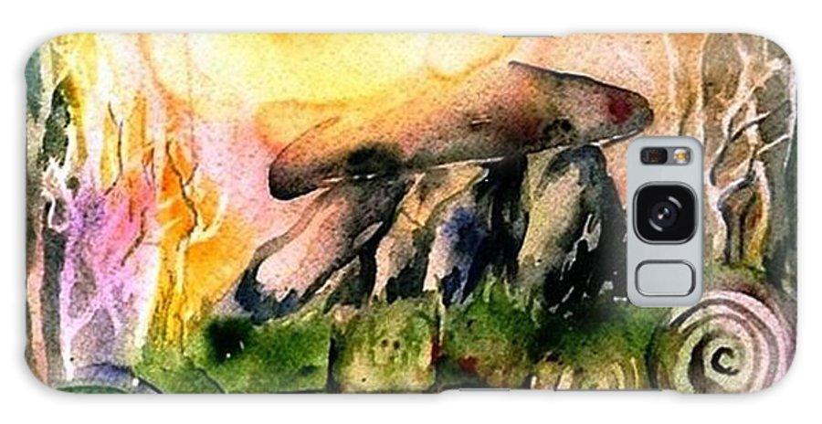 Dolmen Galaxy S8 Case featuring the painting Winter Solstice , Ancient Stones Of Ireland  by Trudi Doyle