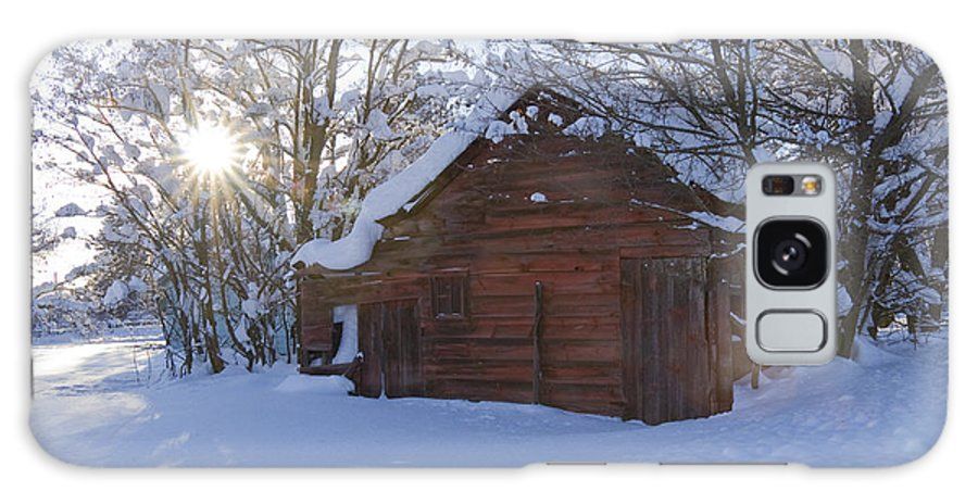 Red Galaxy S8 Case featuring the photograph Winter Stable by Idaho Scenic Images Linda Lantzy