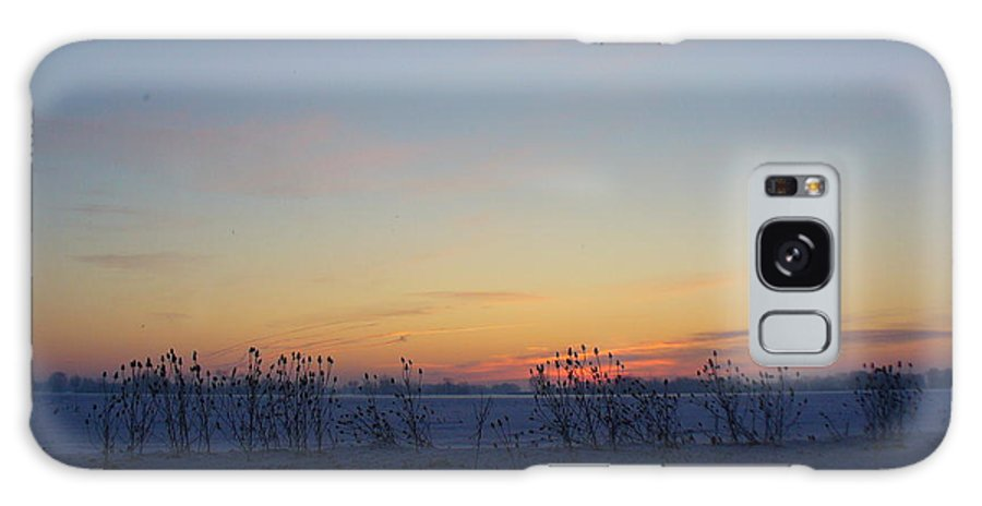 Sunrise Galaxy S8 Case featuring the photograph Winter Sunrise In Lambton County by Peggy King