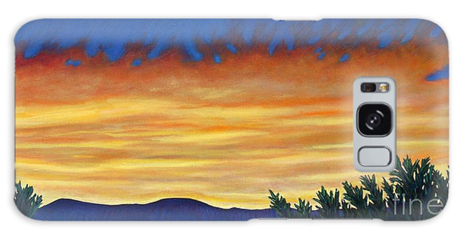 Sunset Galaxy Case featuring the painting Winter Sunset In El Dorado by Brian Commerford