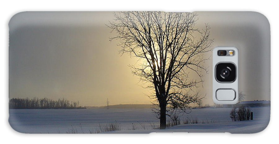 Sun Galaxy S8 Case featuring the photograph Winter Sunset In Lambton County by Peggy King