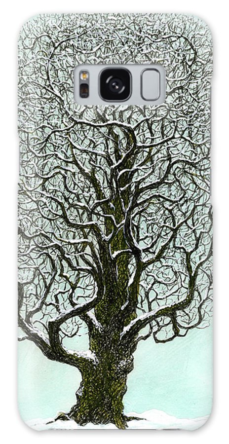 Tree Galaxy S8 Case featuring the painting Winter Tree 2009 by Charles Cater