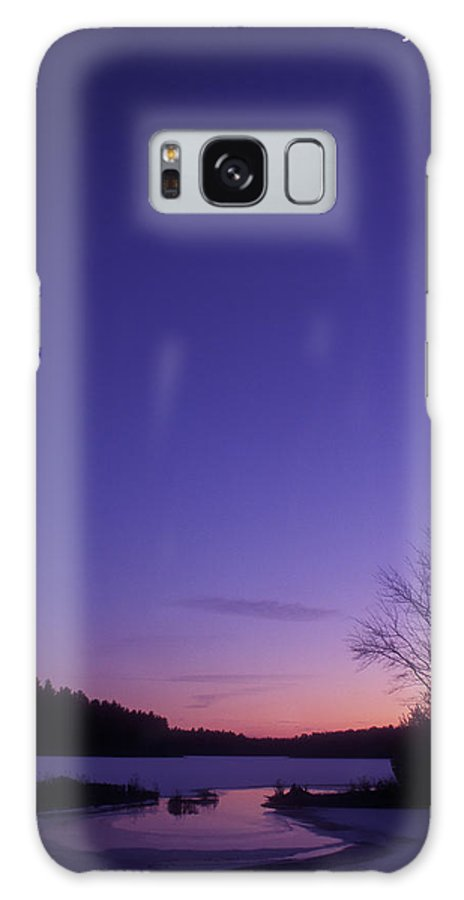 Quabbin Reservoir Galaxy S8 Case featuring the photograph Winter Twilight Quabbin Reservoir by John Burk