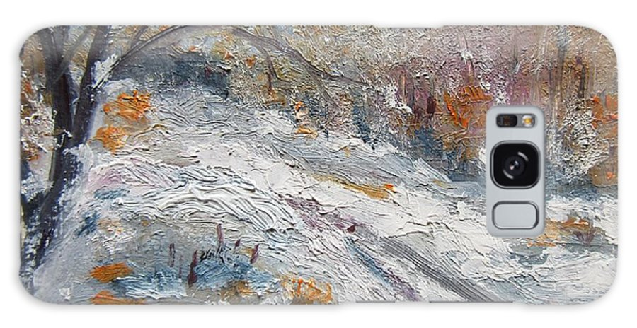 Winter Galaxy S8 Case featuring the painting Winter I by Vesna Martinjak
