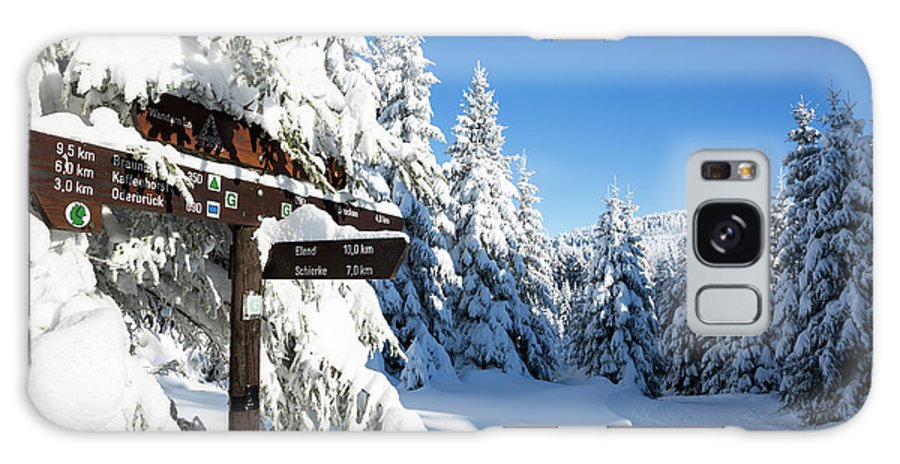 Winter Galaxy S8 Case featuring the photograph winter way in the Upper Harz by Andreas Levi