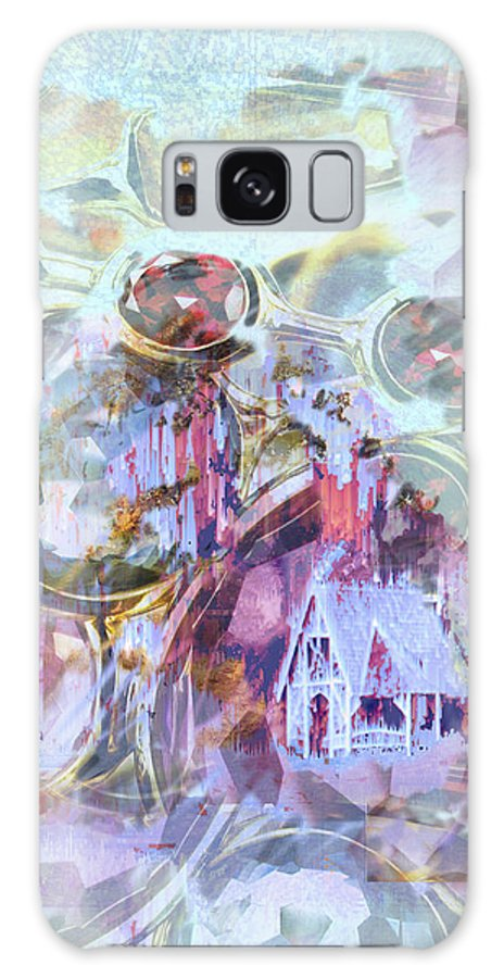 Winter Wind Galaxy Case featuring the digital art Winters Blast by Seth Weaver