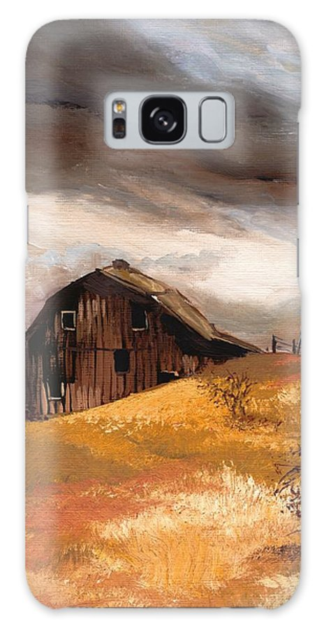 Stormclouds Galaxy S8 Case featuring the painting Winterstorm by Mona Davis