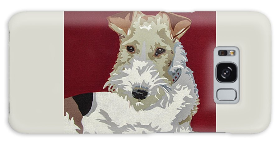 Wire Fox Terrier Galaxy S8 Case featuring the painting Wirehaired Fox Terrier by Slade Roberts