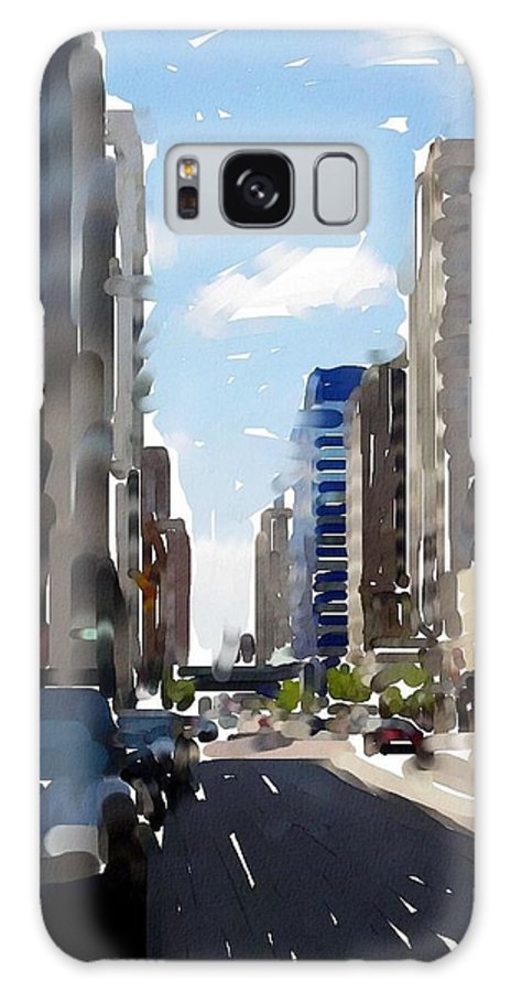 Milwaukee Galaxy S8 Case featuring the digital art Wisconsin Ave 2 by Anita Burgermeister