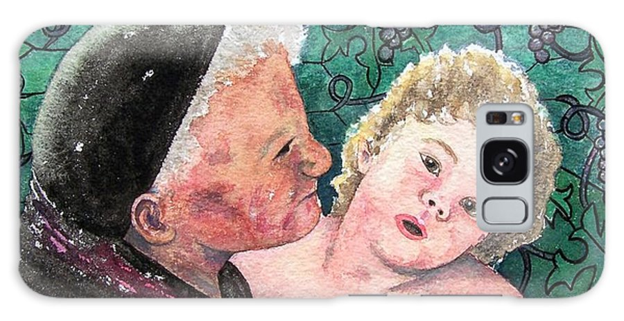 Child Galaxy Case featuring the painting Wisdom And Innocence by Gale Cochran-Smith