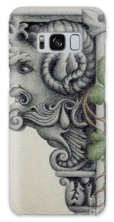 Stone Galaxy Case featuring the drawing Wisdom by Emily Young