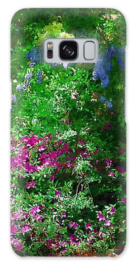 Landscape Galaxy S8 Case featuring the photograph Wisteria And Azaleas by Donna Bentley