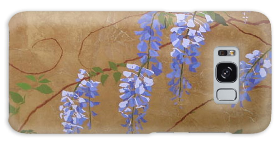 Periwinkle Wisteria Flowers Galaxy S8 Case featuring the painting Wisteria by Leah Tomaino
